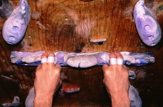 Two-finger pocket grip on a HIT Strip with HIT Pinches above.