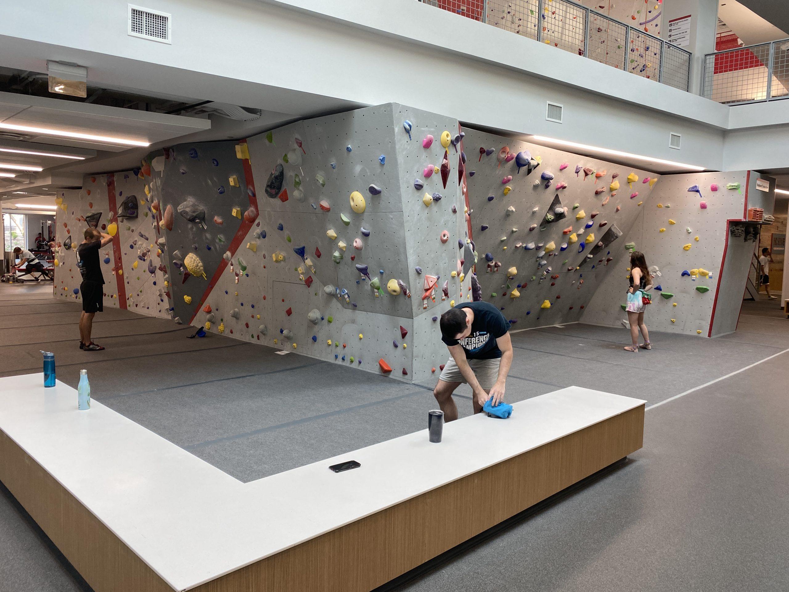 Nicrolite Panel build a bouldering Gym at NCSU